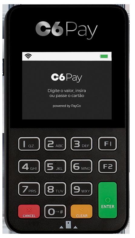 Máquina de Cartão C6 Super Mini PayGo