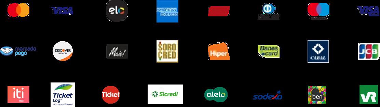 Bandeiras de Cartão Aceitas